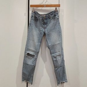FP Shark Bite Cropped Ankle Jeans Size 27